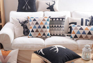 Flannel Double Sided Printed Cushion Covers A673F