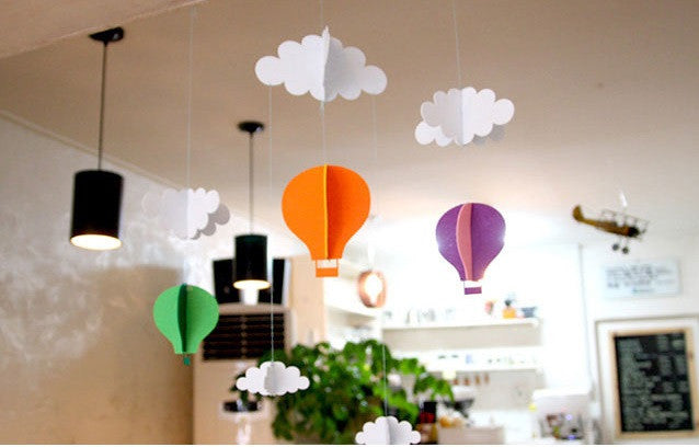 DIY Cloud Mobile Ornament Set Hot Air Balloon Set A702B