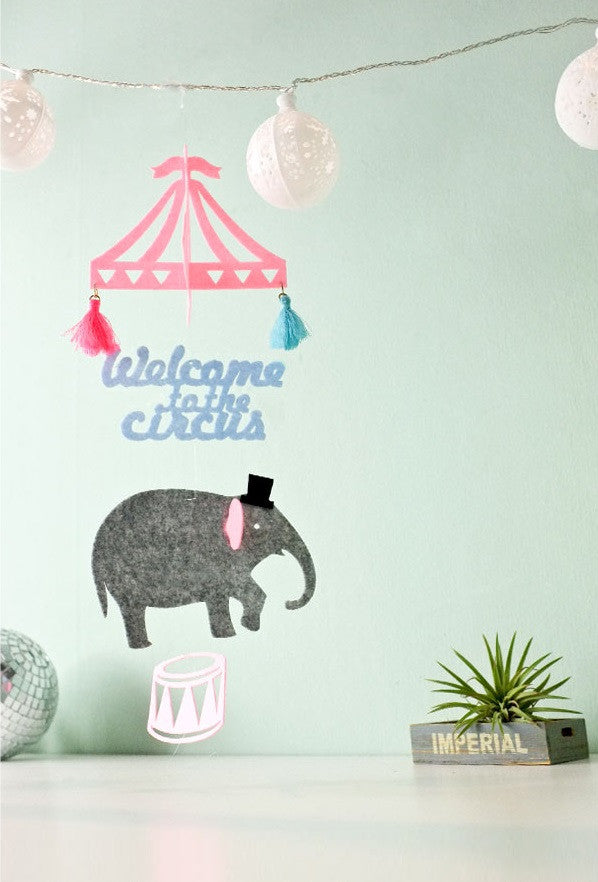 DIY Mobile Ornament Set Welcome to Circus A702D