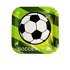 Soccer Party Plates Package of 8pcs/pack A70313E