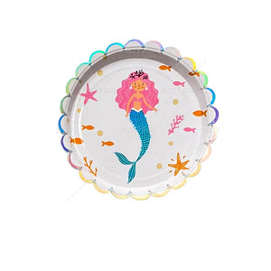 Mermaid Party Plates Package of 8pcs/pack A70313F