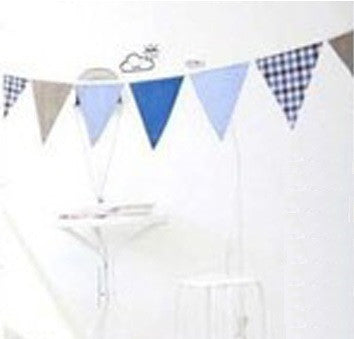 Bunting Garland Set Fabric Blue Bunting A704K