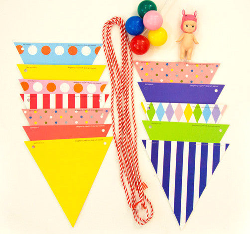 BENTOY Bunting Garland Set Colorful A704B1 / A704B2
