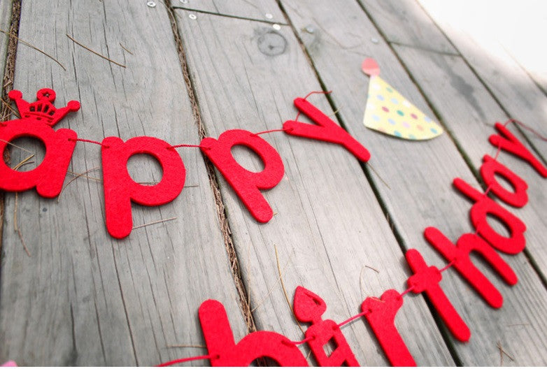 DIY Bunting Garland Set Happy Birthday Letters A704H