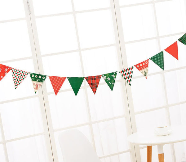 Christmas Flag Garland A722G