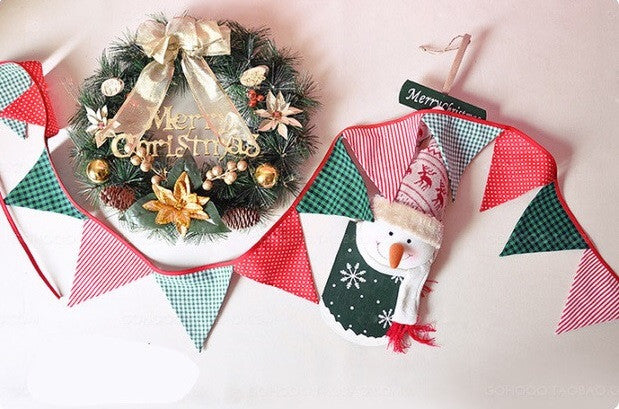 Christmas Handmade Fabric Garland A722O