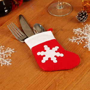 4pcs/set Christmas Tableware Christmas Cutlery Holder A725C