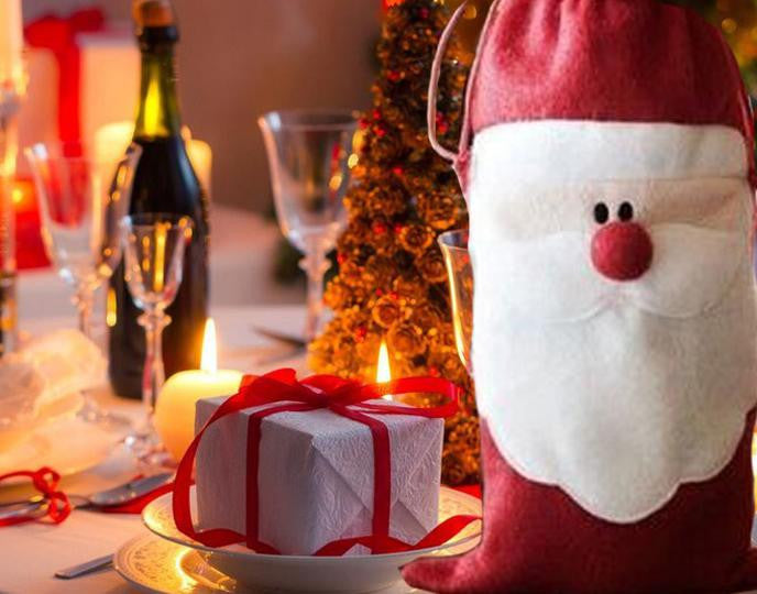 1pc Set Christmas Tableware Christmas Wine Bottle Cover A725f