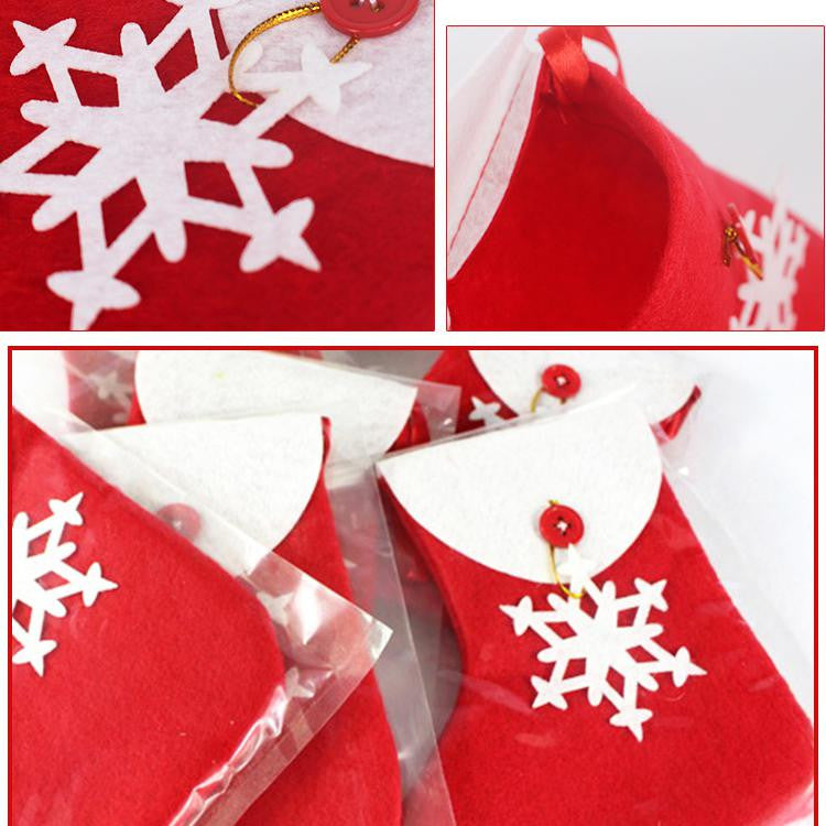 4pcs/set Christmas Tableware Christmas Gift Bags A725H