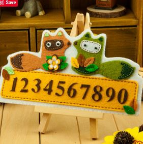 Make Your Own Felt Number Plate DIY Kit AC3014D