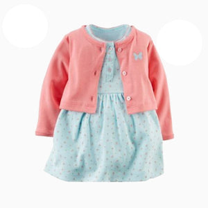 2-Piece Bodysuit Dress & Cardigan Set B20211G