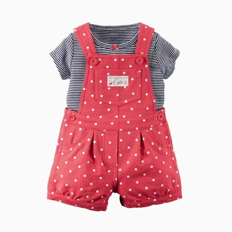 2-Piece Tee & Shortalls Set B20221A