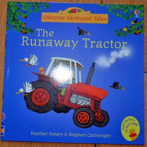 Children Usborne Story Book The Runaway Tractor BK1031A