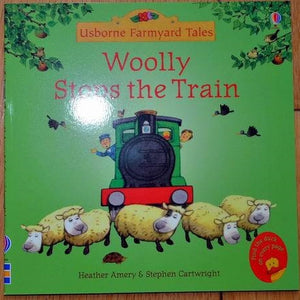 Children Usborne Story Book Woolly Stops the Train BK1031E