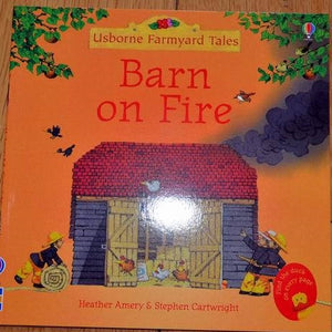 Children Usborne Story Book Barn on Fire BK1031M