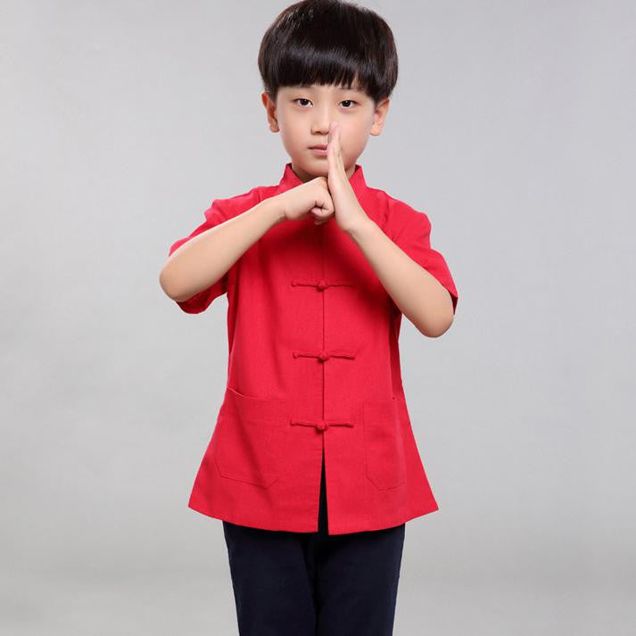 2-15Y Boys Chinese New Year Top A100C16A