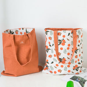 Canvas Reversible Shoulder Tote Bag D20111A