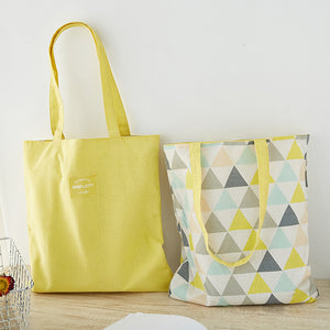 Canvas Reversible Shoulder Tote Bag D20111C