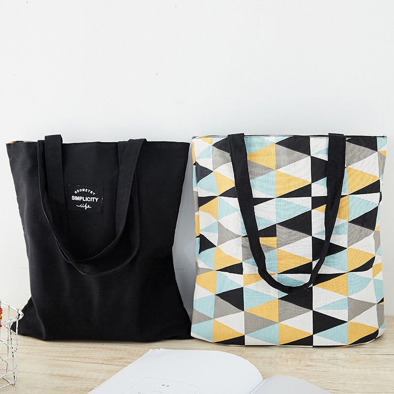 Canvas Reversible Shoulder Tote Bag D20111D