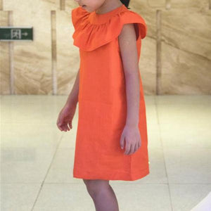1-6Y Girls Orange Dress G210O
