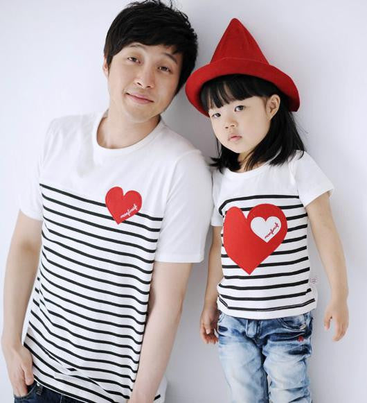 Family Wears Heart and Stripes F102