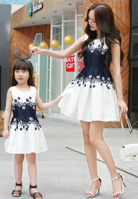 Girls and Mothers Dress F501 (Mother sizes available)
