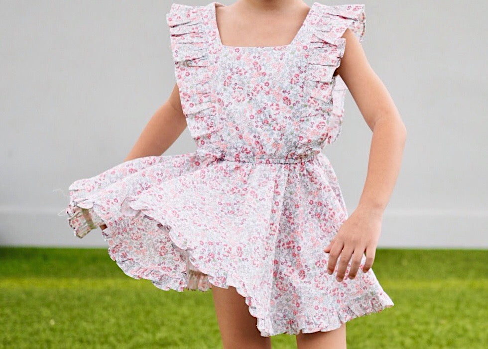 Floral Ruffles Vintage Dress G210EE001A