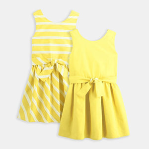 3-12Y Girls Reversible Dress with Belt G20127B