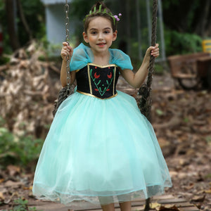 3-10Y Girls Frozen Anna Dress G2091C