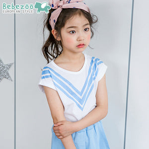 3-10Y Girls Bebezoo/BARPUPAPA Blue Nautical Shirt G242K
