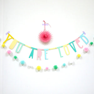 Letters Wall Garland of 138 pieces H620B