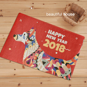 Happy New Year Door Mat H803F