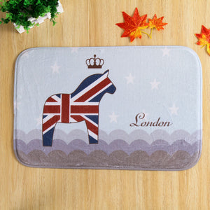 London Horse Door Mat H810A