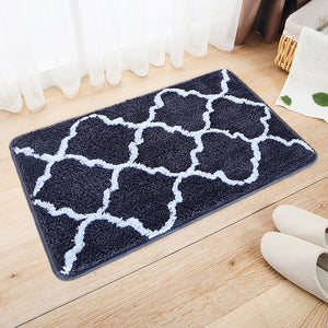 Black Pattern Door Mat H822D