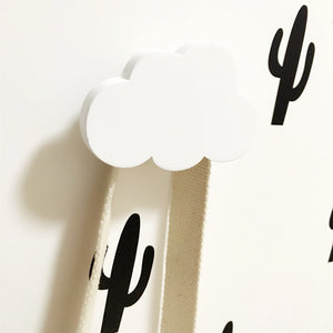 Wooden Cloud I Wall Hook for babies and kids rooms H625C