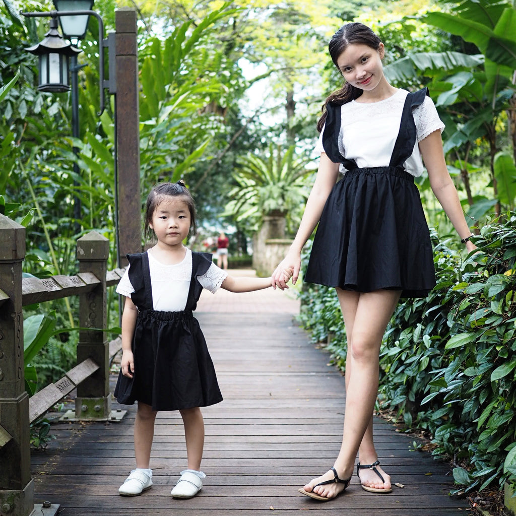 3-15Y Girls Black Jumper Dress G21032C (Mother sizes available)