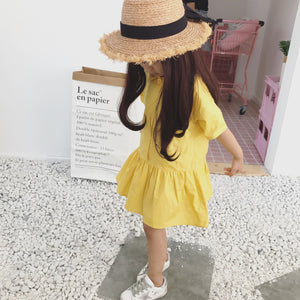 2-8Y Girls Yellow Dress G210P