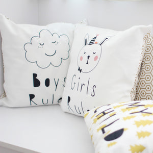 Flannel Double Sided Printed Singlish Cushion Covers PPD654