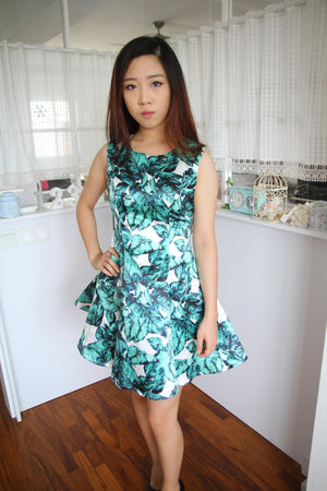 Women Greena Dress W3001A03