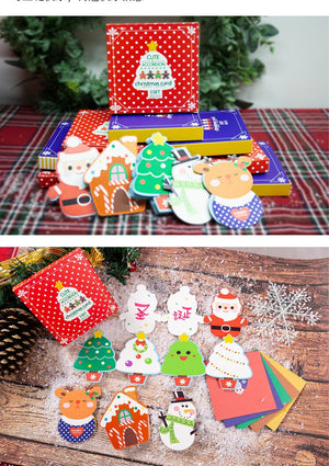 Christmas Cards and Stickers Envelope Set of 5 XM1018B