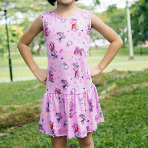 Girls Trolls World Tour Hem Dress A20138A