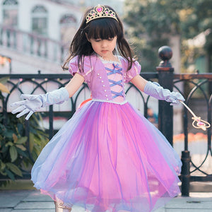3-10Y Girls Rapunzel Princess Dress G2091D