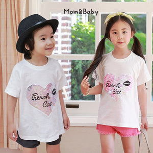 2-15Y Kids French Cat Shirt G21041H