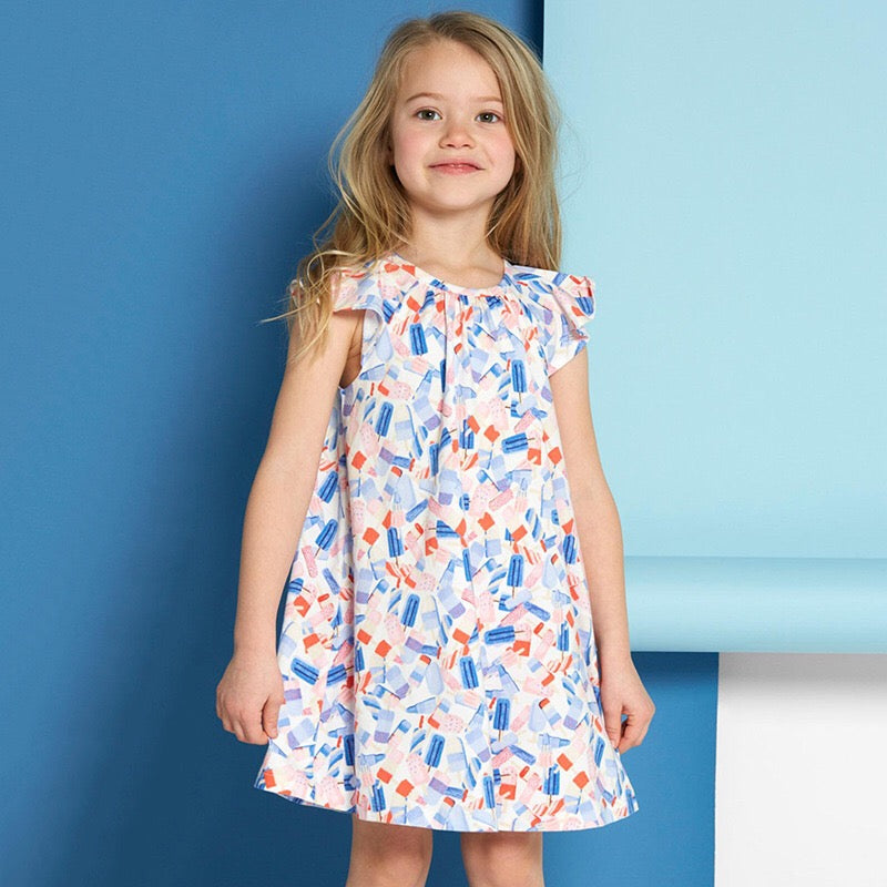 1-6Y Girls Little Maven Spray Paints Dress A20122E