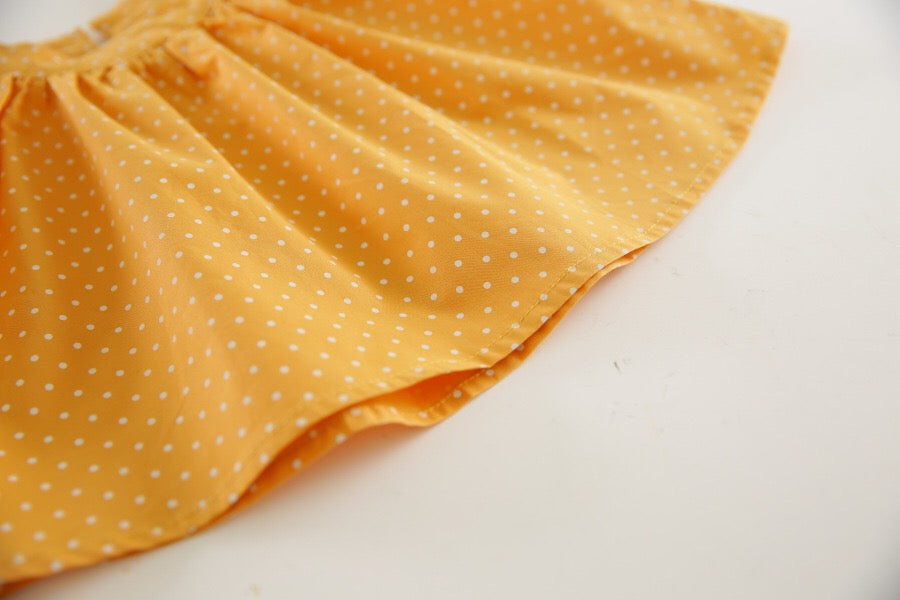 1-6Y Girls Polka Dots Off-Shoulder Blouse A20122G