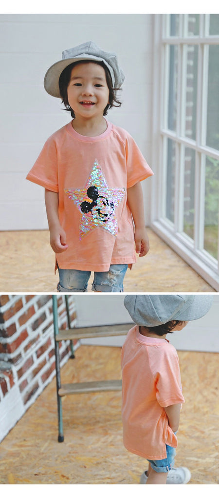 2-15Y Kids Mickey Shirt G21041I (Mother size available)