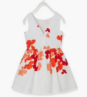 3-15Y Girls Butterfly White Dress A20134E