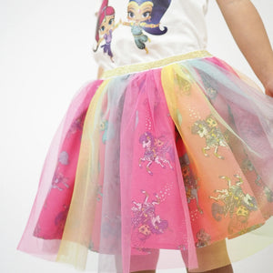 1-7Y Girls Shimmer and Shine Rainbow Skirt A20412K