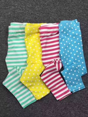 UK MB Yellow Polka Dots Legging Pants A20451H