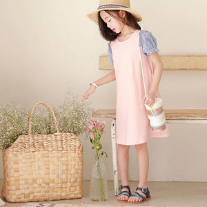 3-15Y Girls Puffy Sleeves Dress G20122A